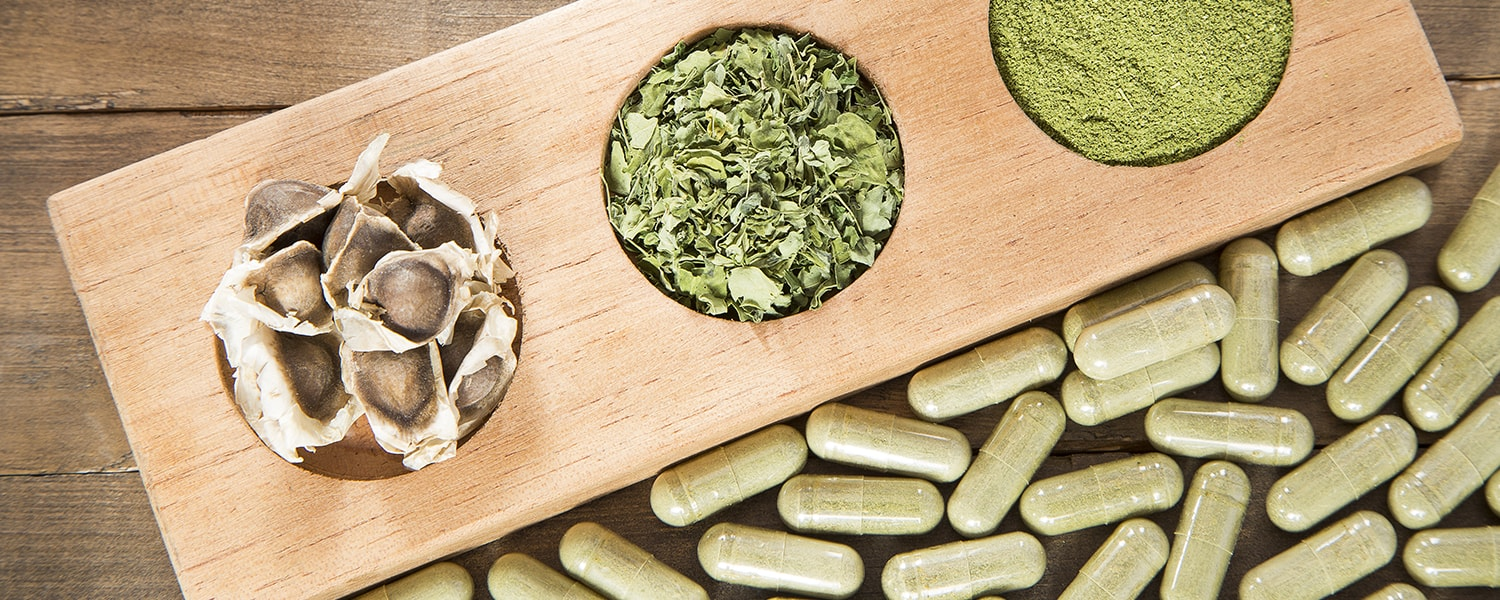Moringa Leaves, Powder And Seeds
